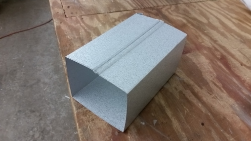4x5 Industrial Downspouts Fall River Seamless Gutter Supply